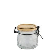 Dóza 0,5L sklo+ dřev.víko