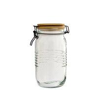 Dóza 1,5L sklo+ dřev.víko