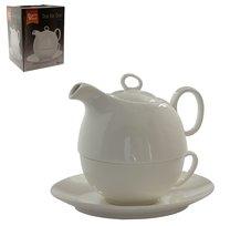 Souprava na čaj bílý porcelán 0,6l