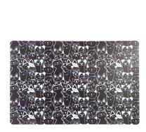 Prostírání černé 43x28 kočky