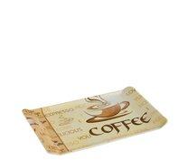 Tác melamin 23x14x1cm Coffee