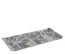 Tác melamin 37x16x1,5cm černo-zlatý