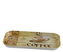 Tácek melamin 15x28,5cm Coffee
