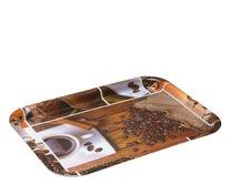 Tácek melamin 31x22,5cm Káva a skořice