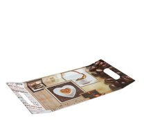Podnos melamin 37x18cm 2 ucha Coffee shop