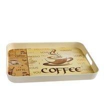 Tác melamin 39x29x4cm hluboký Coffee