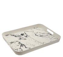 Tác melamin 39 x 29 x 4 cm hluboký Mramor bílý