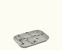 Tácek melamin 21 x 14 cm Mramor bílý