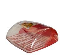 Chlebník plast červený