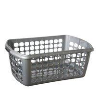 Koš na prádlo 60x38x24 stříbrný