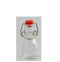 Lahvička čirá sklo 45ml patent uzávěr plast víčko mix
