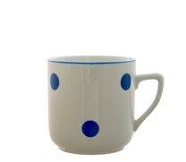 Hrnek Pětka 400ml modrý puntík