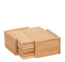 Podložky bambus 6ks 11x11x0,5cm 6ks+stojan