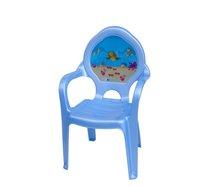 Dětská židlička plast modrá moře