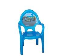 Dětská židlička plast modrá/auta