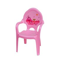 Dětská židlička plast růžová princezny