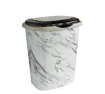 Koš na špin.prádlo mramor bílý 41l 43x34x50