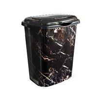 Koš na špin.prádlo mramor černý 41l 43x34x50