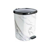 Odpadkový koš pedál 20l mramor bílý