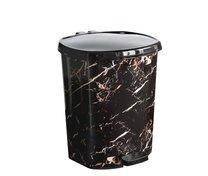 Odpadkový koš pedál 20l mramor černý