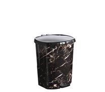 Odpadkový koš pedál  6l mramor černý
