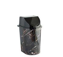 Odpadkový koš klip 5,7l Mramor černý