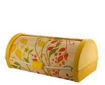 Chlebník plast žlutý listy 57x52x48cm