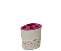 Držák na kartáčky a pastu růžový pták