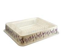 Odkapávač na nádobí bílý 51x42x9 levandule
