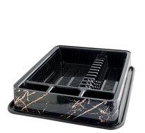 Odkapávač na nádobí 51x42x9 mramor černý