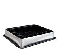 Odkapávač černo-stříbrný 51x42x9