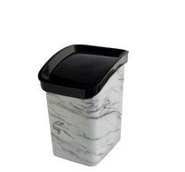 Odpad koš CLICK BIN 6l mramor bílý