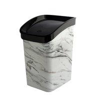 Odpad koš CLICK BIN 12l mramor bílý