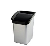 Odpad koš CLICK BIN 6l STŘÍBRNÝ