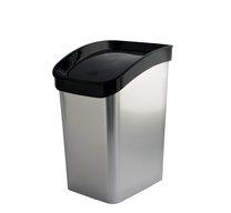 Odpad koš CLICK BIN 12l STŘÍBRNÝ