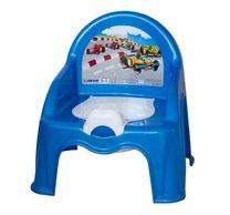 Židlička s nočníkem modrá/auta