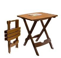Stůl rozkládací malý/hnědý 44,5x38,5x48,5cm