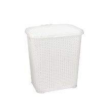 Koš na špin prádlo 48l reliéf bílý