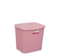 Box s víkem 6,5l reliéf růžový