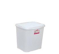 Box s víkem 6,5l reliéf bílý