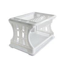 Odkapávač na nádobí 2 patra bílý 45x30x29cm