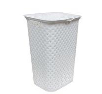 Koš na špin.prádlo,plast 40x58x32cm/bílá