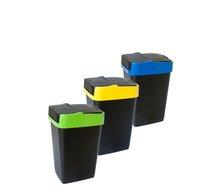 Odpadkový koš PUSHUP 18 l zelená,modrá,žlutá