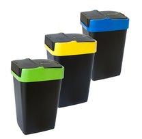 Odpad. koš PUSHUP 35 l mix barev tříd odpad
