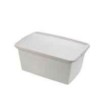 Box RATTAN 43x32x22 20l-bílý