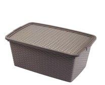Box RATTAN 59x39x26 40l hnědá