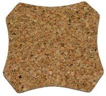 Korkové prostírání 6ks káro 9,6 x 9, 6 cm