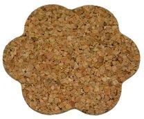 Korkové prostírání 6ks kytka 9,6 cm