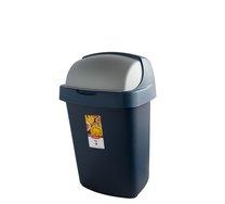Odpadkový koš ROLL TOP 25L modrostříbrný
