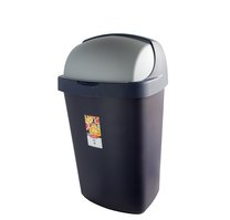 Odpadkový koš ROLL TOP 50L modrostříbrný